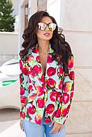 Модный женский пиджак с разными принтами
