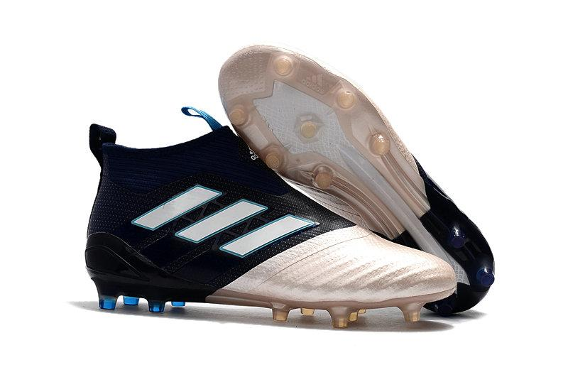 Бутсы Adidas Ace 16+ Purecontrol Blue White Gold с носком