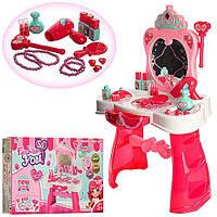 Ролевые игровые наборы для девочек Трюмо / туалетный столик 008-907 -в собр.виде 67*44*28см, с аксесс. стул