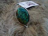 Оригинальное кольцо хризоколла в серебре. Размер 17,5-18. Индия!, фото 7