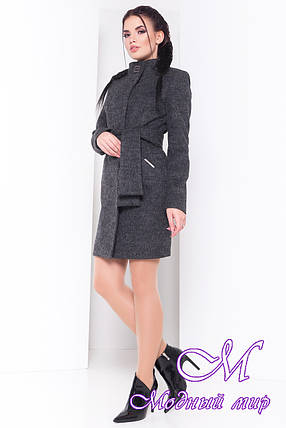 Осеннее пальто с поясом (р. S, M, L) арт. Луара лайт шерсть № 9 - 16561, фото 2