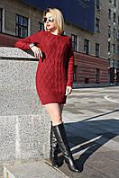 Туника вязанная Ася (5 цветов), вязанное платье, теплое вязаное платье