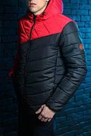 Стильная черная с красным куртка победов, Pobedov Sirius Spring Jacket