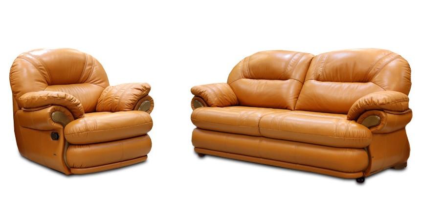 Кожаный комплект мебели Орландо (3+1)