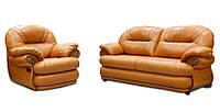 Кожаный диван в комплекте с креслом - Орландо (3р+1)