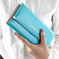 Великолепный женский кошелек бирюзового цвета Lan Jin Jue