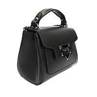 Маленькая сумочка, кожа, Италия, чёрная, фото 1