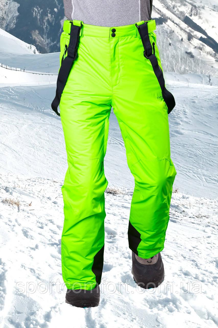Брюки лыжные мужские салат
