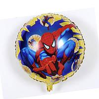 Фольгированные воздушные шары, форма:круг с рисунком герой мультфильма Спайдермен человек-паук, 18 дюймов/45 с