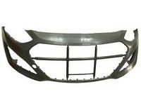 Бампер передний (грунт.) без отв. омывателя -п/троник Хюндай (Hyundai i-30) 2012-