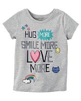 Футболка Carters для девочки 4-8 лет Love More