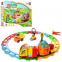 Конструктор для детей  ЖД локомотив (69 деталей)