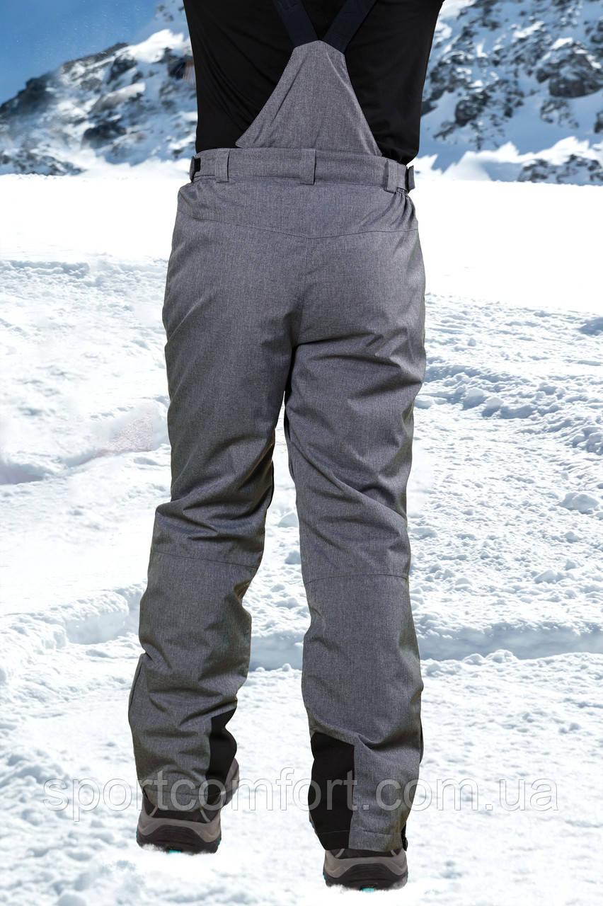 Брюки лыжные мужские светло-серые