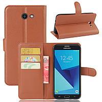 Чехол для Samsung Galaxy J5 2017 J520 J520F US Version книжка кожа PU коричневый