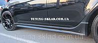 Пороги Mitsubishi Lancer X (боковые пороги на Митсубиси Лансер 10), фото 1