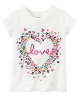 Футболка Carters для девочки 4-8 лет Love