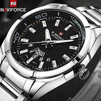 Классические мужские часы Naviforce 9038 Silver, Гарантия. Класичний годинник