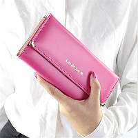 Великолепный женский кошелек розового цвета Lan Jin Jue