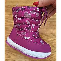60784c4938c02 Сапожки дутики для девочки, недорогая детская зимняя обувь р.27-31