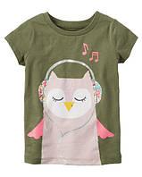 Футболка Carters для девочки 4-8 лет Glitter Owl