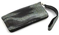 Удобный кожаный чехол-футляр с кармашком для телефона на молнии ручная работа big  (101125)