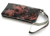 Удобный кожаный чехол-футляр с кармашком для телефона на молнии ручная работа big  (101107)