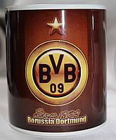 Чашка чайная футбольная с изображением символика FC Borussia Dortmund