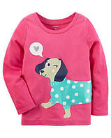 Кофта лонгслив Carters для девочки 4-8 лет Glitter Dog
