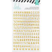 Наклейки від Heidi Swapp Memory Planner Goldpink ALPHA GLITTER