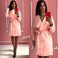 Пальто женское модное на запах кашемир разные цвета 2Gmil168
