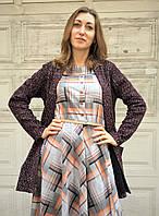 Кардиган женский букле без застежки с карманами, фото 1