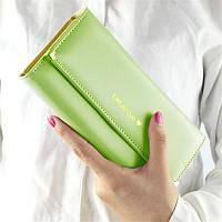 Великолепный женский кошелек оливкового цвета Lan Jin Jue