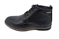 Ботинки кожаные демисезонные на байке Multi-Shoes Franc Black