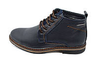 Ботинки  мужские кожаные демисезонные на байке Multi-Shoes Franc Blue