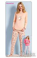 Пижама женская с брюками хлопок Кот Vienetta (Винетта) 3122