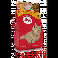 Мяу сухий корм для дорослих котів з куркою