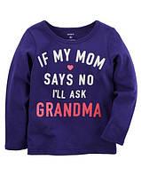 Кофта лонгслив Carters для девочки 4-8 лет Ask Grandma