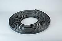 Поручень ПВХ для перил 40*4мм черный
