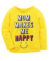 Кофта лонгслив Carters для девочки 4-8 лет Mom Makes Me Happy