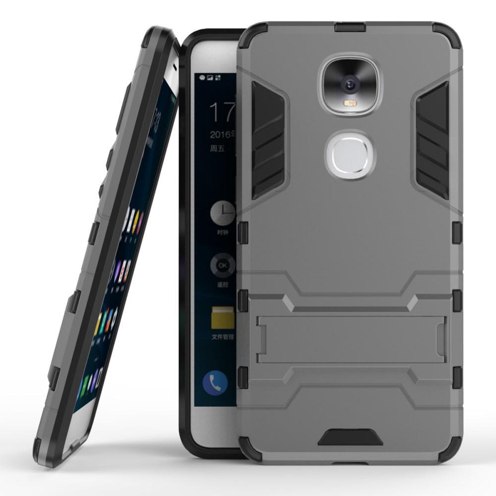 Чехол накладка для LeEco Le Pro 3 противоударный силиконовый с пластиком, Alien, серый