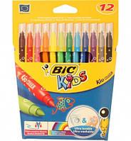 Фломастеры детские BIC Кидс Кулер, 12 цветов