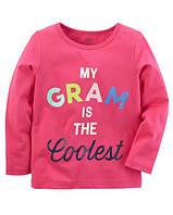 Кофта лонгслив Carters для девочки 4-8 лет My Gram Is The Coolest