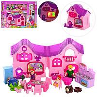 Кукольный интерактивный домик с мебелью 8076BF