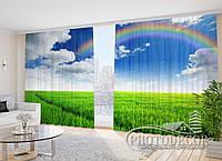 """Фото Шторы в зал """"Радуга над полем"""" 2,7м*2,9м (2 половинки по 1,45м), тесьма"""