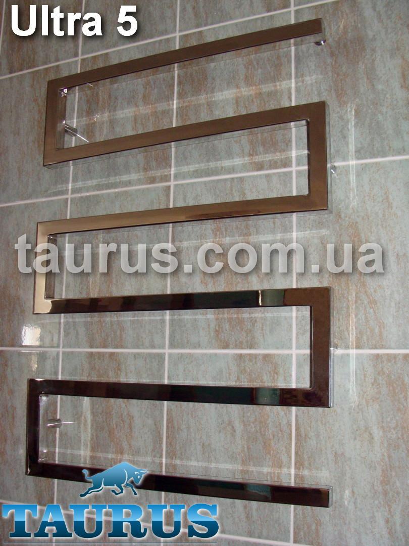 Широкий полотенцесушитель Ultra 5 для ванной комнаты / 900x600. Для системы отопления