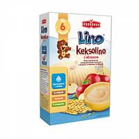 Молочная каша Lino Keksolino пшеничная с печеньем и яблоком, 200 г
