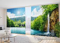 """Фото Шторы в зал """"Водопады"""" 2,7м*2,9м (2 полотна по 1,45м), тесьма"""
