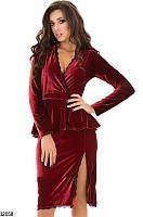 Женское платье с баской 32057 КТ-1649