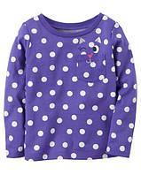 Кофта лонгслив Carters для девочки 4-8 лет Polka Dot Cat Pocket