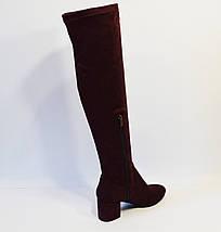 Сапог-чулок женский бордовый Magnolya, фото 2
